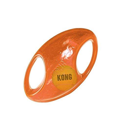 KONG Jumbler - Juguete para perro de fútbol (tamaño mediano/grande)