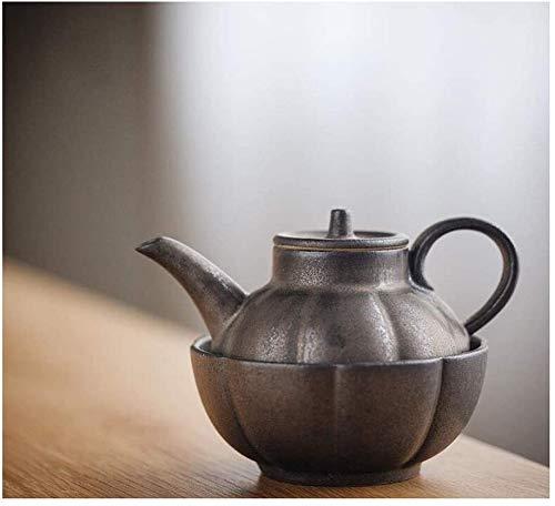 ZQADTU Juego de té estilo japonés taza rápida creativa cerámica cobre óxido esmalte oficina hogar viaje conjunto