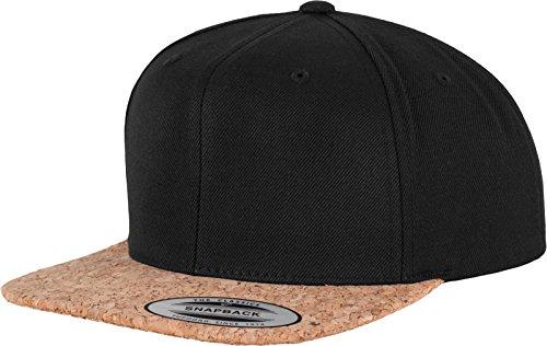 Flex fit Cork Snapback Black One Size Casquette Unisex-Adult