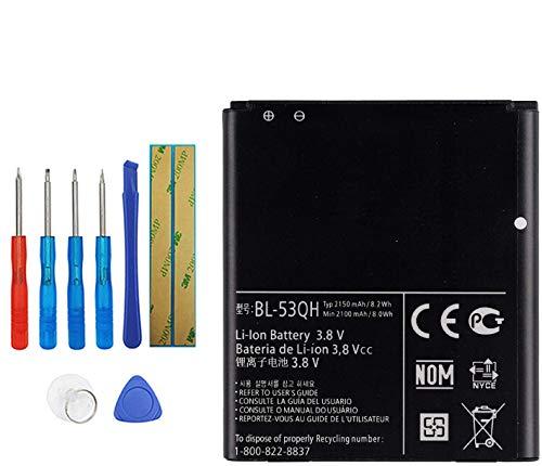 Upplus BL-53QH - Batería de repuesto compatible con LG Optimus 4X HD P880 L9 P769 P760 L 9 P768 P765 LTE II con kit de herramientas