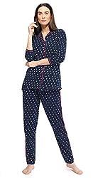ZEYO Womens Cotton Night Suit