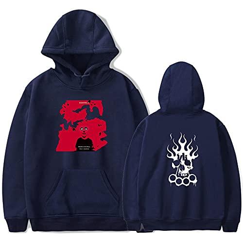 Rapper Kontra K Merch New Print Hoodies Kawaii Sweatshirt Damen/Herren Mode Hoodies, Navyo, XXXXL
