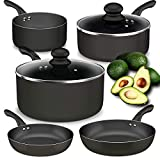 Lightning Deal Pots and Pan Set, Classic Induction Cookware Set ,Multilayer Copper Non-Stick...