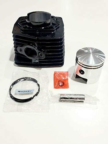 MZ PARTS MIAMI Motorized Bicycle 48MM Black Cylinder Set for 66CC/80CC 40MM Intake. (HIGH PIN Piston)