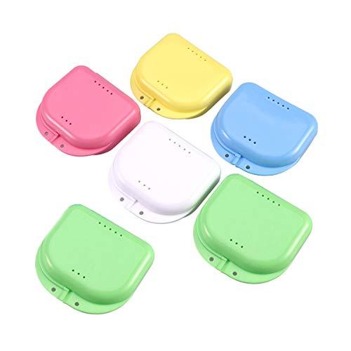 Toyvian Zahnschutz Box Zahnschutz Box Mundschutz Verpackung für kieferorthopädische Prothese (6 Stück, zufällige Farbe)