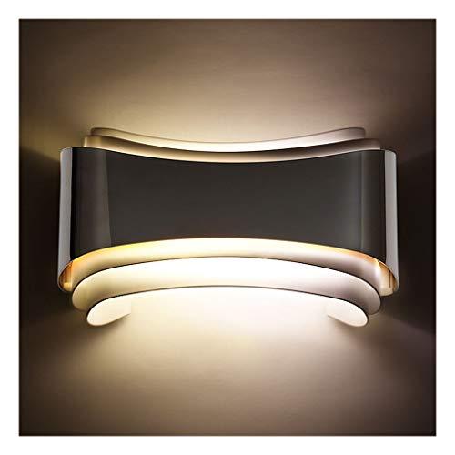 W. Lámpara de pared, LED rectangular dormitorio lámpara de cabecera, Cafetería, Hotel de la lámpara de pared, lámpara de la lámpara de pared creativa [Clase de energía A ++] ( Color : Warm light )