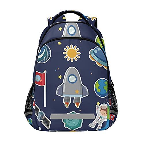 Vnurnrn Niños Guays Galaxia Azul Oscuro Niñas Mochila de Estudiantes Mochilas para Viajes Escolar Niños