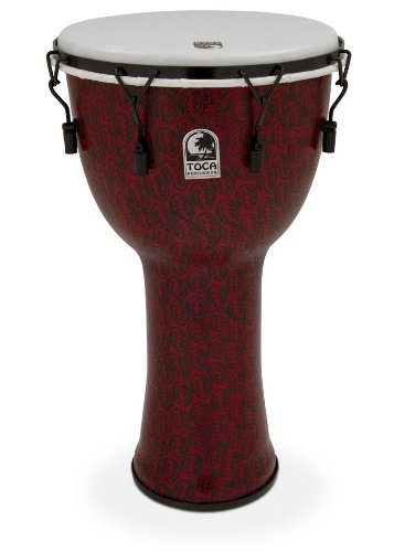 "TOCA (トカ) TF2DM-14RMB Freestyle II Djembe 14"" - Red Mask - Synthetic Head w/Bag フリースタイル・ジャンベ ケース付"