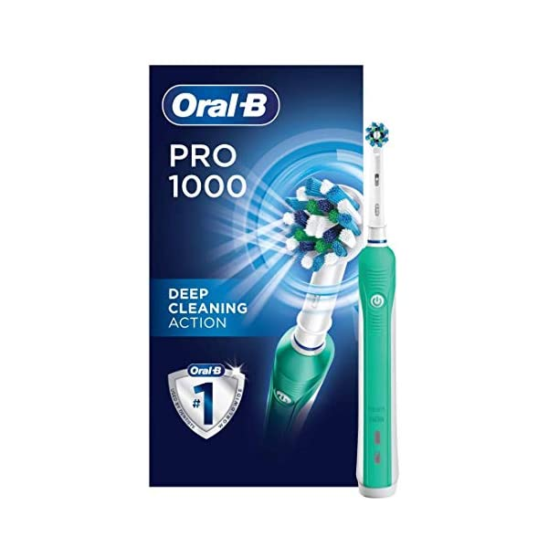 Oral B 1000 CrossAction Electric Toothbrush Green