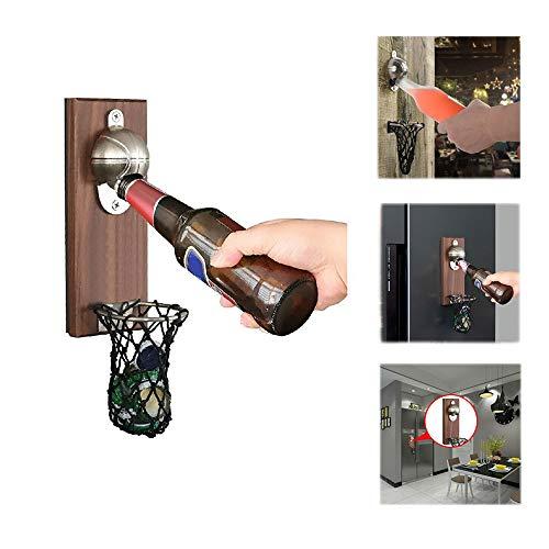 GTKY Abridor de latas de Cerveza de Baloncesto, abrebotellas de Baloncesto con Bolsillo, Accesorios de Cerveza Catcher con Tapa magnética para Bar, Familia, decoración de Oficina