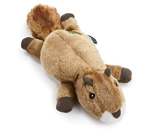 GoDog Flatz Squirrel Toy with Chew Guard