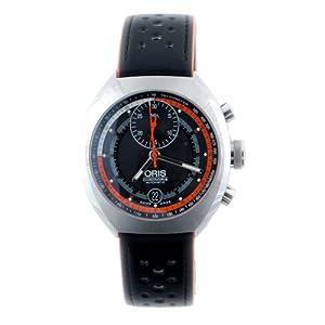 Oris Men's 672 7564 4154LS Chronoris Chronograph Black Dial Watch