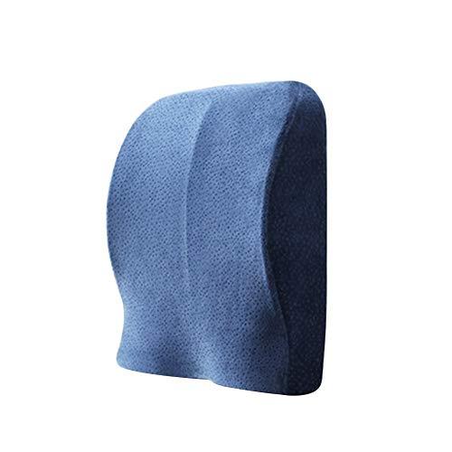 WANGXN rugsteun kussen Lumbar ondersteuning Kussen Memory Foam Ergonomisch Kussen voor Office stoel Thuis Auto