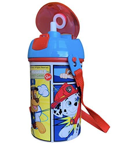 Botella Infanti Patrulla Canina Botella de Agua Óptimo para Guardería, Escuela y Deportes, Unisex-Niños