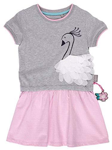 SIGIKID Mini - Mädchen Kleid Sommerkleid Kurzarm aus Bio-Baumwolle, abnehmbares Hangtoy, Rosa, 116