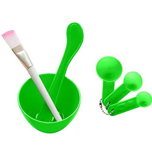 4-in-1 Gezichtsmasker Mixing Tool DIY Gezichtsmasker Bowl Borstel Lepel Stick Tool Set Huidverzorging make-up Tools Kit Vrouwen Gezichtsmasker Grote Volume Masker Bowl Groen