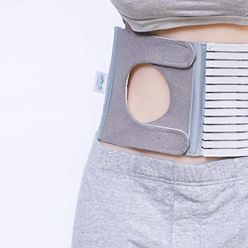 CYYYY Ostomy Belt, Unisex Stoma Support Belts to Prevent Parastomal Hernia Stoma Opening with 6-8 cm Ring/Hole (Size : M)