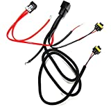 iJDMTOY H11 880 890 Relay Wiring Harness Compatible With Xenon Headlight Kit, Add-On Fog Lights, LED Daytime Running Lamps and more