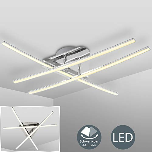 LED plafondlamp I 3 flame I moderne plafondlamp I incl. 3 x 8W 800lm LED bord I 3000K warm wit I mat nikkel I IP20