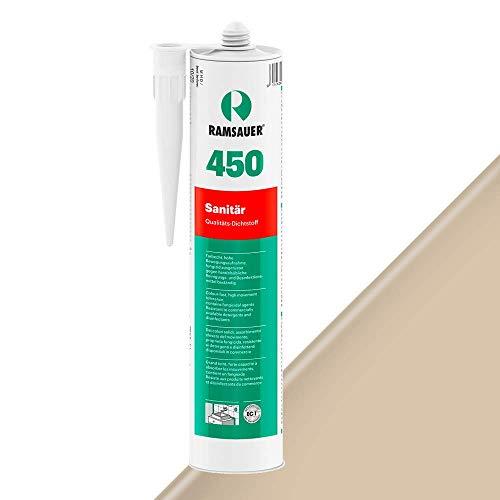 Ramsauer Sellador de silicona 450 1K, cartucho de 310 ml (beige arena)