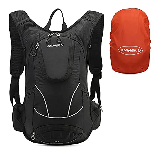 LOCAL LION Fahrradrucksack Wanderrucksack Rucksack 12L mit Regenschutz für Herren Damen wasserdicht zum Radfahren Outdoor Sport Wandern Joggen Bergsteigen