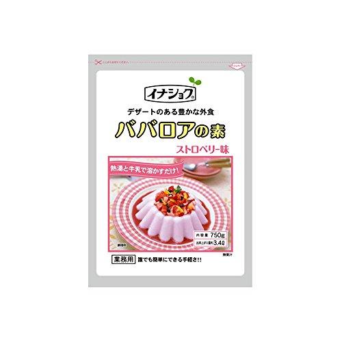 【常温】 伊那食品 ババロアの素 ストロベリー 750g 業務用 ババロア(ソースなし)