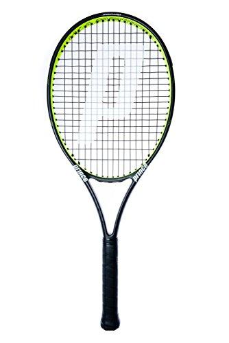 Prince Warrior 107T LE Erwachsene Tennisschläger, schwarz/gelb, Grip 1:4 1/8 Zoll