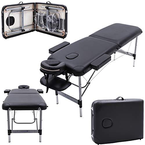 Massage Imperial® - tragbare Profi-Massageliege Knightsbridge - 7 cm Schaumstoff - Aluminium - 10 kg - Schwarz
