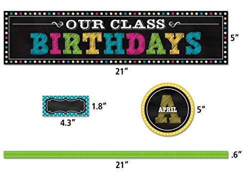 Teacher Created Resources Chalkboard Brights Our Class Birthdays Mini Bulletin Board (5506) Photo #2
