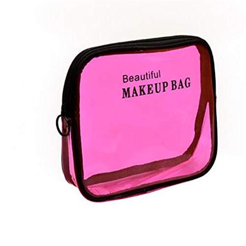 Bolsa de maquillaje transparente bolsa de maquillaje impermeable bolsa de maquillaje portátil...