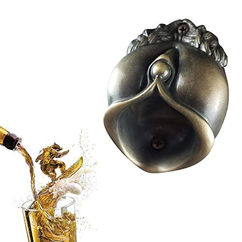 Abridor la Decoración de Cerveza Abridor,Cerveza Abrebotellas Montado de Pared,Ideal Para Bares,Fiestas,Accesorios,Cocina Casera,Excelente Mejor Regalo (cobre)