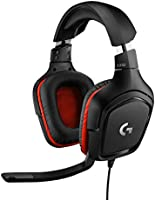 Logitech G332 Wired Gaming Headset, Stereo Audio, 50 mm Audio Drivers, 3.5 mm Audio Jack, Flip-to-Mute Mic, Rotating Ear...