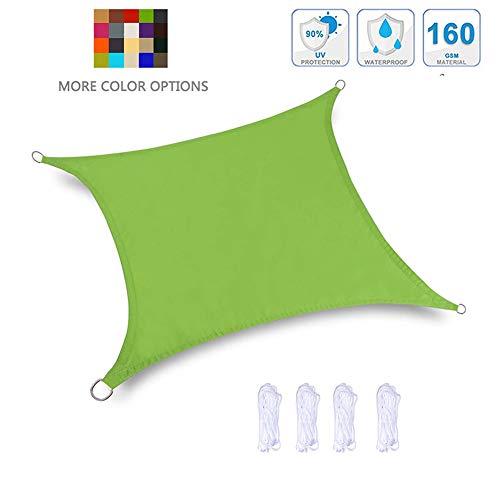MikusangT 2x2m Toldo Vela Rectangular Impermeable Toldos Resistente a Los Rayos UV Tasa De Sombreado 95% para Jardín, Terraza Y Balcón Transpirable Permeable, 20 Colores