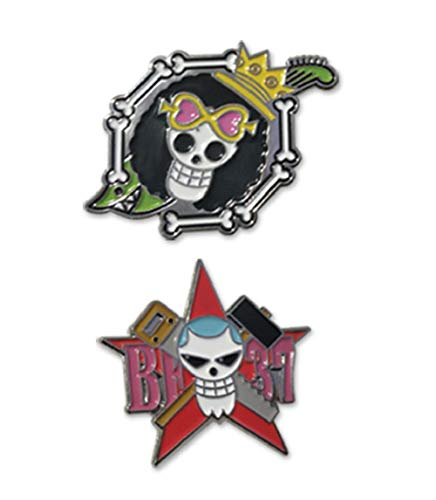 One Piece Brook And Franky Skull Pin Set Anime Enamel Pin