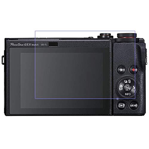 AWADUO Protector de pantalla para Canon PowerShot G5X Mark II – Protector de pantalla LCD de vidrio templado para Canon PowerShot G5X Mark II, 9H H H RTE, 0,3 mm de grosor