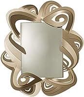 Arti & Mestieri Penelope - Specchio di Design 100% Made in Italy - in Ferro, 87 x 100 - Bronzo