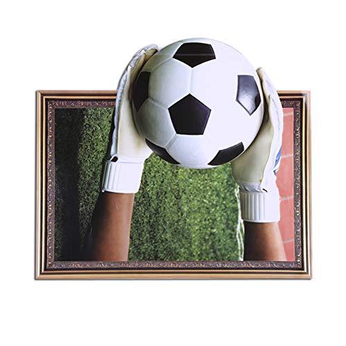 Voetbal muursticker voor kinderkamer decoratie aftrekplaatjes voetbal plezier 3D-muurschildering kunst sport spel world cup thema 6246