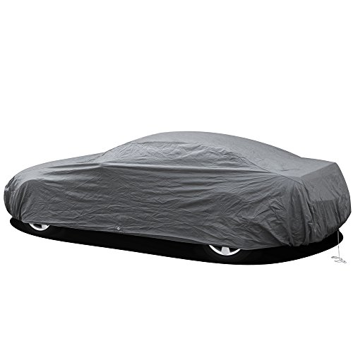 OxGord Economy Car Cover - 2 Layer Dust Cover - Lowest Price - Ready-Fit / Semi Glove Fit - Fits up to 180 Inches