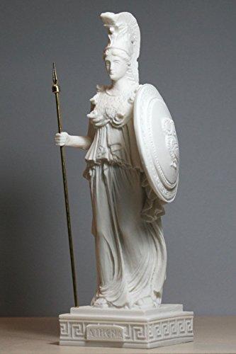 Figura decorativa de la diosa romana griega Atenea/Minerva hecha en alabastro de 24,5 cm