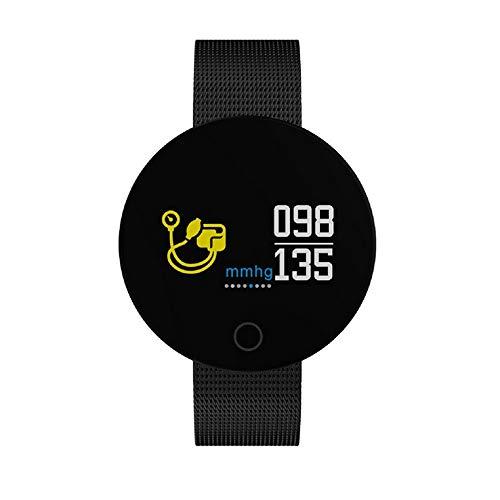 WAZA Fitnessarmband, activiteitentracker, smart watch bluetooth, sporthorloge, stappenteller, horloge, hartslagmeter, slaapmonitor, bloeddrukmeter, 0,96 inch scherm, voor Android en iOS