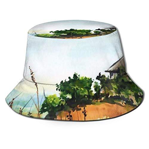 Lawenp Sombrero de Cubo Plegable Unisex Casita Solitaria Verano Transpirable Sombrero de...