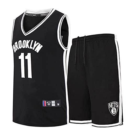 Wsaman Camiseta De Baloncesto para Adultos Y Niños, No.11 Camiseta de Baloncesto para niños Hombres, Camiseta De Baloncesto De La NBA Masculina, Transpirable Secado rápido Chaleco,Negro,XXL