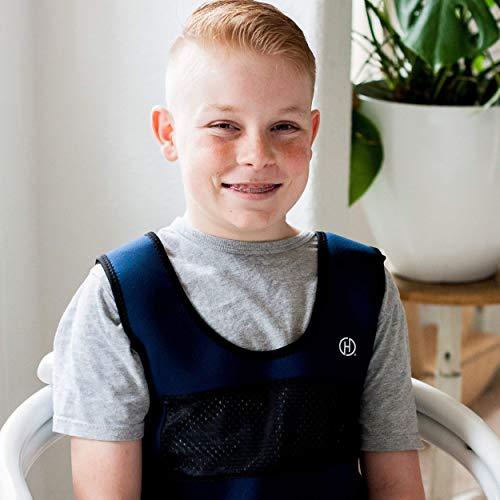 Weighted Compression Vest for Children Ages 10 by Harkla  Helps with Autism ADHD Mood Sensory Overload  Weighted Vest for Kids with Sensory Issues