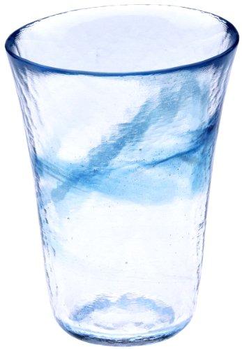 月夜野工房『我が家の一杯 焼酎グラス L 青(T1-0239-B)』