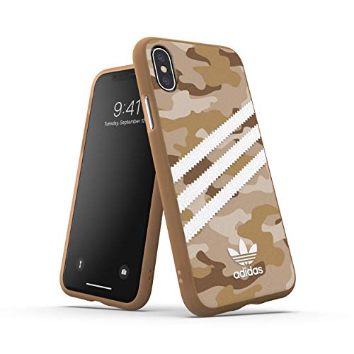 adidas Originals Phone Case/Handyhülle Schutzhülle kompatibel mit iPhone X XS - Tarnung Braun/Camo Brown