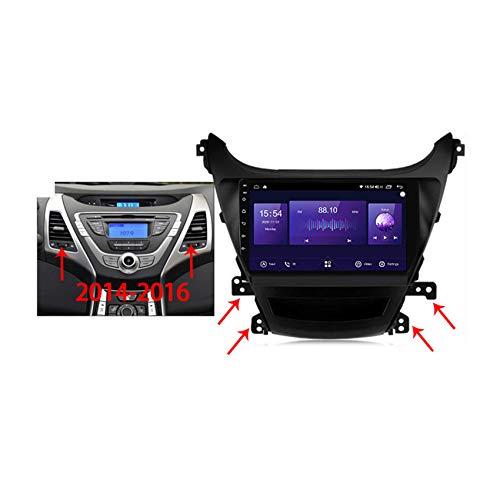Reproductor MP5 de Coche Para Hyundai Elantra 2011-2016 Android 10 Radio Coche GPS navi Controles del volante Apoyo BT5.0 built-in carplay DSP FM RDS,7862 b,4+64G