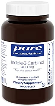 Pure Encapsulations - Indole-3-Carbinol 400 mg - Supports Healthy Breast Cervical and Prostate Cell Function - 60 Capsules