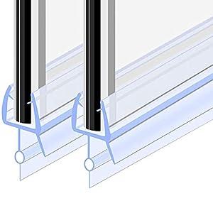 Goldge Junta para mampara de ducha | Junta de goma de repuesto Fabricado en PVC Duro y PVC Suave Ajustable Usar a el Cristal de 6 mm