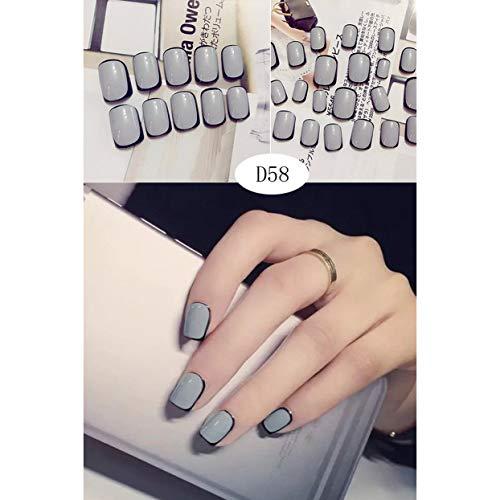 ShenyKan 24pcs Various Delicate Pattern Design Fake Nails Cute Beautiful Nail Patch Beauty Nail Decor DIY Nail Art