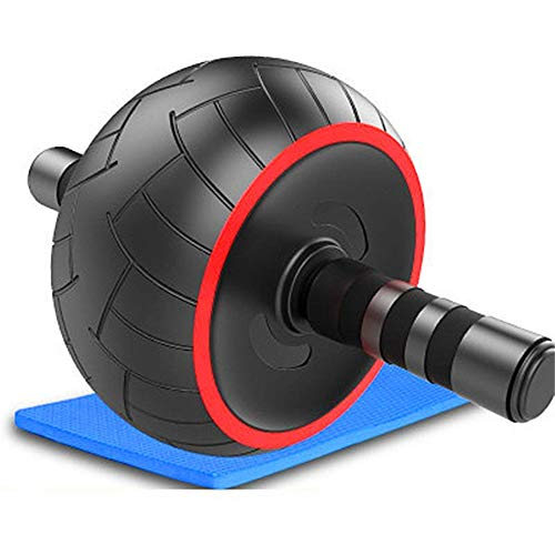 Ab Wheel Roller Ab Wheel Roller Core Training Roller Abdominal Workout Equipment Exercise and Fitness Wheel At Home with Knee Pad for Fitness and Muscle Training ( Color : Black , Size : 34*17*20cm )